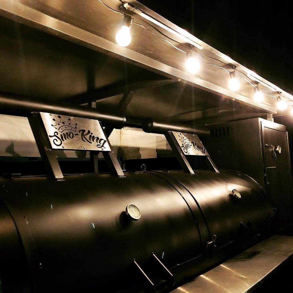 Big B BBQ burner under lights