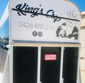 REAR SIGNAGE- KINGS CUP MOBILE BAR