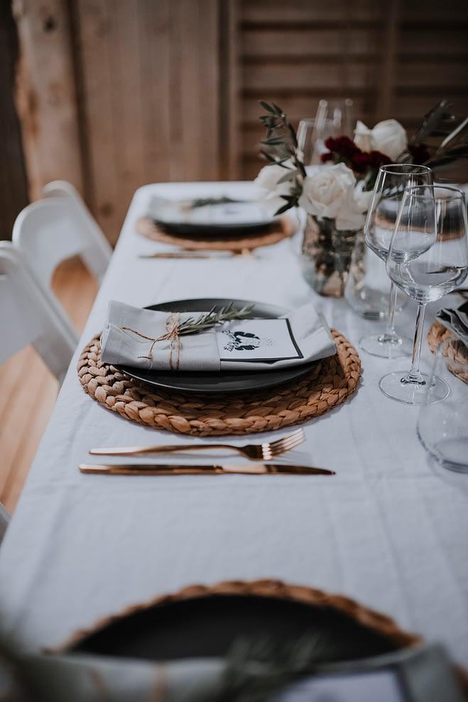 wedding collaborations - table arrangement